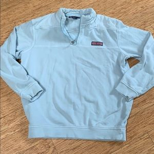 Vineyard vines pull over shirt with zip
